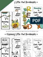Bookmarks Charming Little Owls Freebie