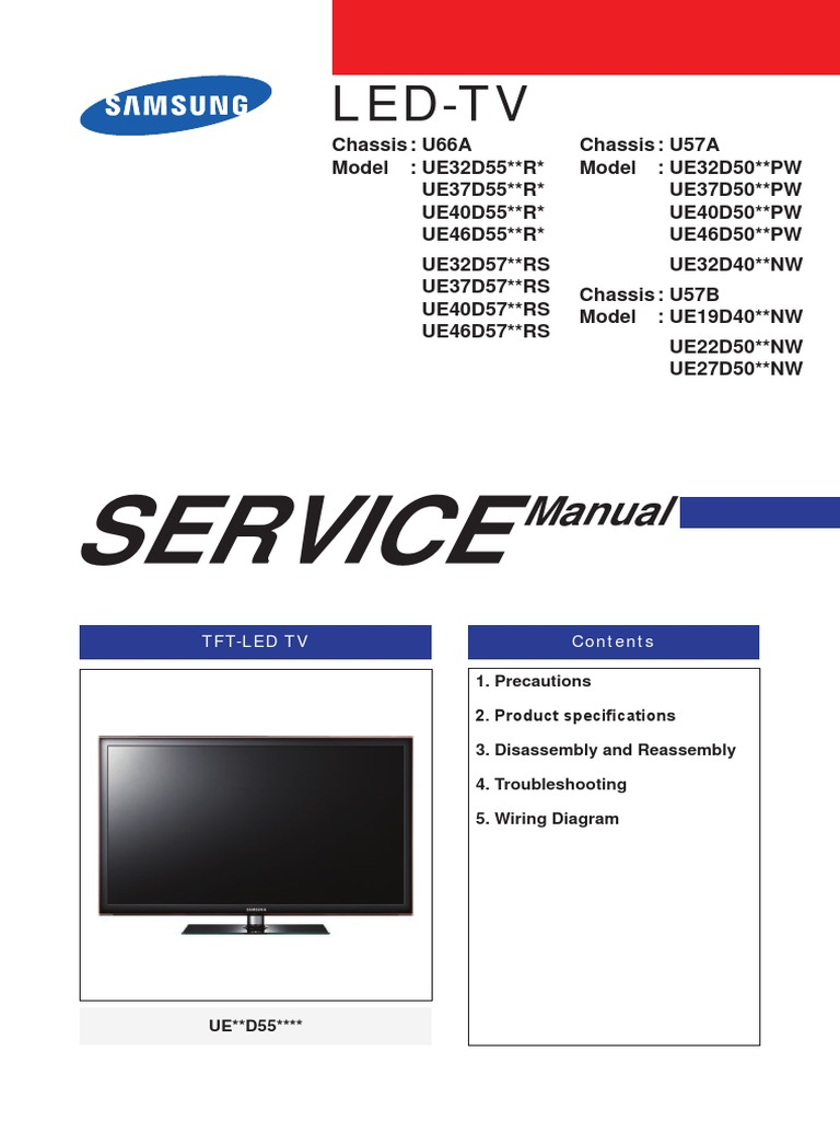 Samsung UE32D57xxRS.pdf | Electrostatic Discharge | Electrical Connector