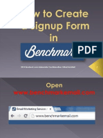 How to Create a Signup Form in Benchmark