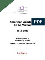 American Academy in Al Mizhar - Elementary Handbook