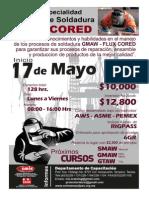 CURSO SOLDADURA FLUX CORED Inicio 17 de Mayo 2014.pdf