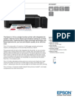 Epson L110 A4 Colour Multifunction Inkjet Tank System Printer