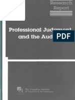 Professional Judgment and the Auditor - 1995