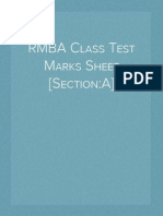 RMBA Class Test Marks Sheet [Section:A]