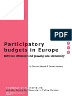 Participatory Budgeting in Europe