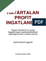 Határtalan Profit Ingatlanból Könyv