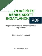 Vagyonépítés Bérbeadott Ingatlanokkal Könyv (2007)
