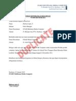 Surat Keterangan Keagenan