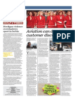 Aviation Can Do Without Customer Discrimination - Gulf Times 16 Oct 2014