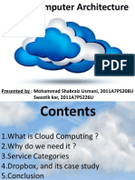 Cloud computing archictecture