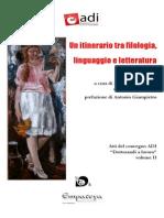 Un Itinerario Tra Filologia, Linguaggio e Letteratura