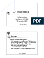 GSM Speech Coding