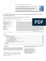 2011 - Tchanche - Low-grade Heat Conversion Into Power Using Organic Rankine Cycles a Review of Various Applications