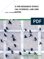 Guidelines Research Ethics in the Social Sciences Law Humanities