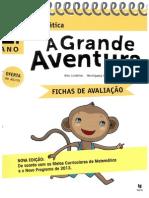 A Grande Aventura 1º- Fichas de Avaliação - Matemática