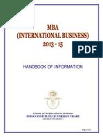 IIFT Handbook