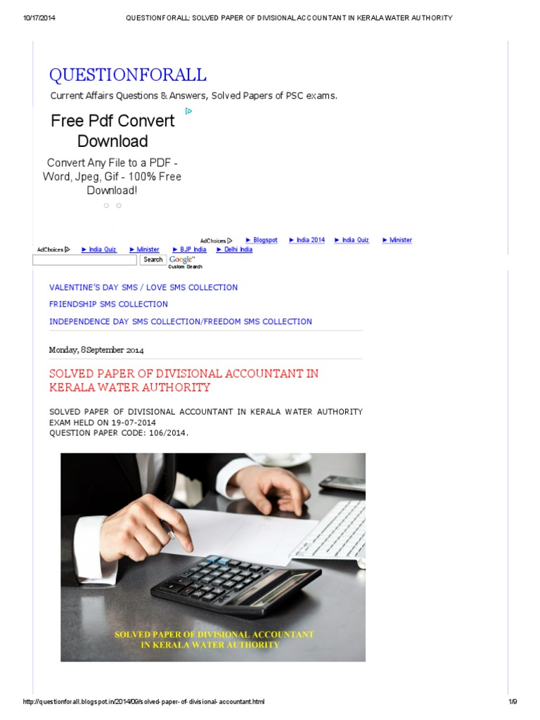 Questionforall_ Solved Paper of Divisional Accountant in Kerala