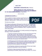 New SunValley Homeowners Association v. Sanguniang Barangay Ng Sun Valley%2C G.R. NO. 156686%2C July 27%2C 2011