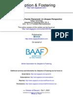 Adoption & Fostering 2001 Schofield 6 19