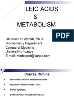 Dr Okunowo Wahab Introductory Molecular Biology Lecture Note I (Nucleotides Metabolism)