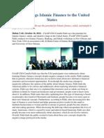 FAAIF Brings Islamic Finance to the United States