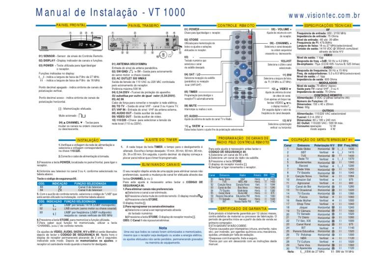 ELSYS 4100 RECEPTOR BAIXAR MANUAL