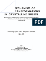 The mechanism of Phase transformations in crystalline solids
