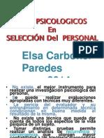 TEST PSICOLOGICOS  EN SELECCION DE PERSONAL 2014.ppt