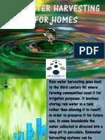 Rain Water Harvesting for Homes