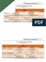 Unit 2 Writing Schedule