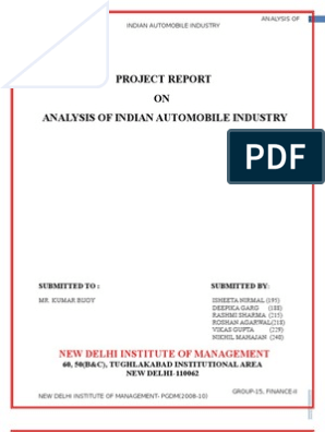 Fundamental analysis of automobile sector