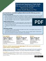 Behavioral Health Hearings Flyer