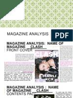 Magazine Analysis on Pp