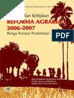 Pembentukan Kebijakan Reforma Agraria 2006-2007. Bunga Rampai Perdebatan