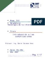 Introducción a las Comunicaciones  TIU1v1 7