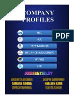Company Profiles Ppt