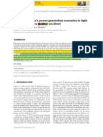 Review of Japan's Power Generation Scenarios in Light