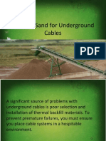 Thermal Sand for Underground Cables