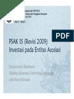 PSAK 15-Investasi Pada Entitas Asosiasi