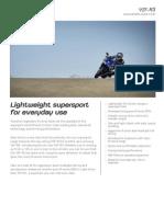 2015 Yamaha R3 Tech Specs