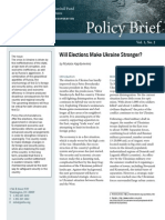 Will Elections Make Ukraine Stronger?