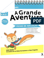 A Grande Aventura 1º- Fichas de Avaliação - Portugês