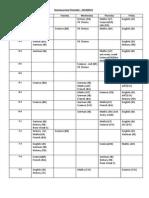 Homework Timetable