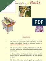 Lecture - 15 Decorating Plastics