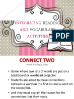 Integrating reading and vocabuary activities