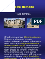 História do Teatro Mundial Romano.ppt
