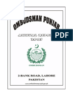 d.o.no.Pop.1-786/2003 Office of the Ombudsman, Punjab 2-Bank Road, Lahore Dated