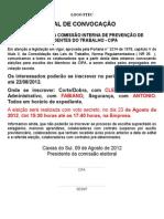 Edital de Convocação Para Eleição - CIPA 2012.doc