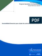 Sostenibilidad financiera para el plan de acción de un SIDAP/SIRAP