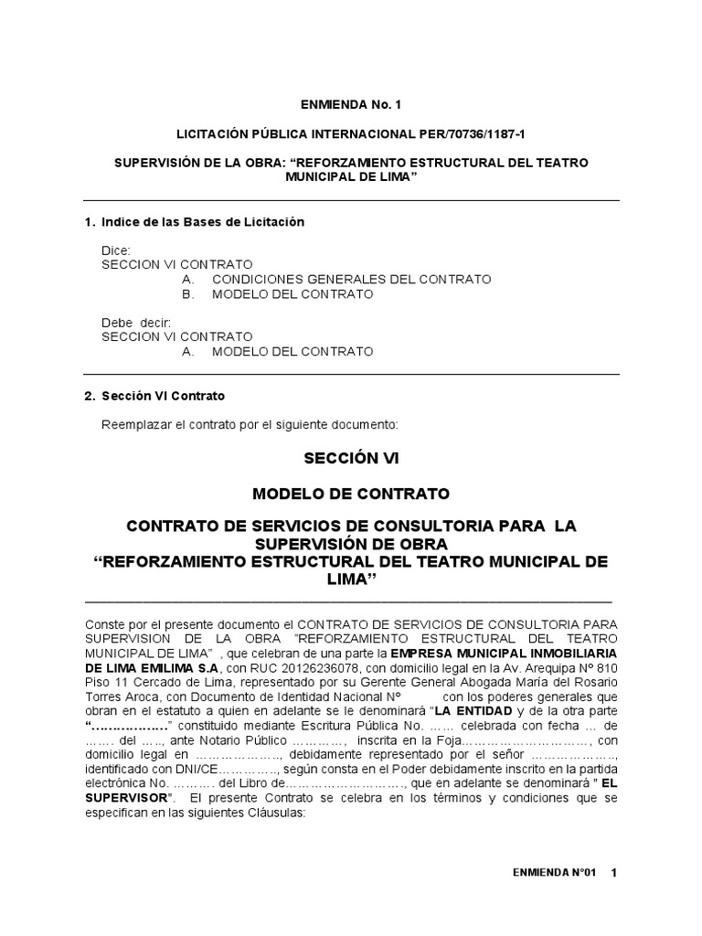 Lujo Plantilla De Contrato De Supervisión Componente - Ejemplo De ...